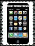 A4 Iphone I Phone Personalised Edible Icing or Wafer Cake Top Topper